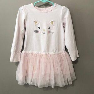 4T pink cat dress